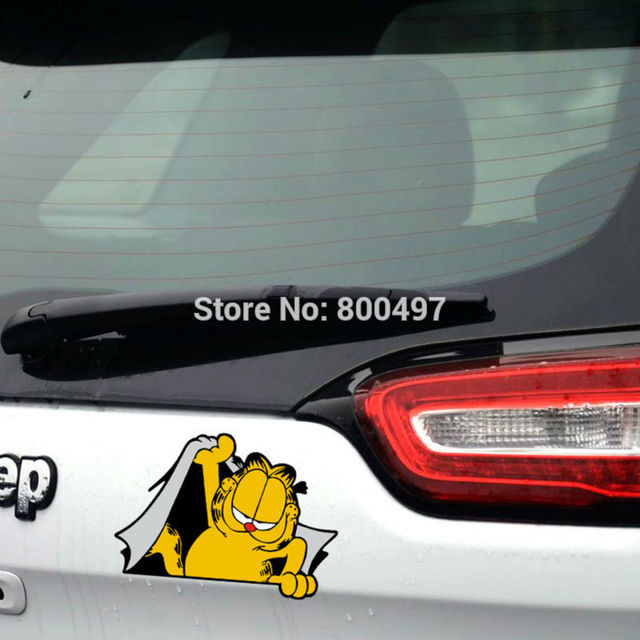 Funny decasl car styling garfield car sticker decal bumper stickers whole body decal for tesla chevrolet