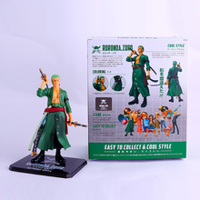 ONE PIECE Anime Action & Toy Figures 17cm POP Roronoa Zoro Three Knife Flow Toys for Children Adult Kids Birthday Christmas Gift