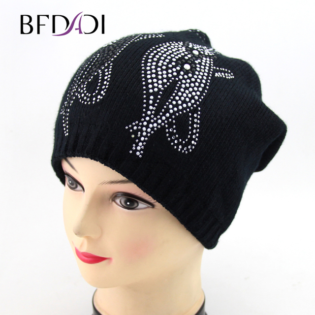 75f96fd4fc1 BFDADI 2018 Women s Winter Hats Knitted Skullies Casual Cap with Cats  pattern Thick Warm Bonnet Beanie