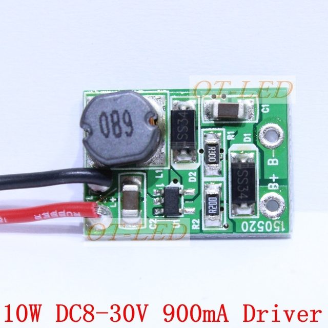 2pcs high quality 12v 24v 10w led driver for 3x3w 9 11v 900ma high2pcs high quality 12v 24v 10w led driver for 3x3w 9 11v 900ma high power 10w led chip transformer