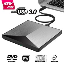 купить External DVD Drive USB 3.0 CD DVD +/-RW Burner Rewriter Player, Optical Superdrive High Speed Data Transfer for Laptop MacBook онлайн