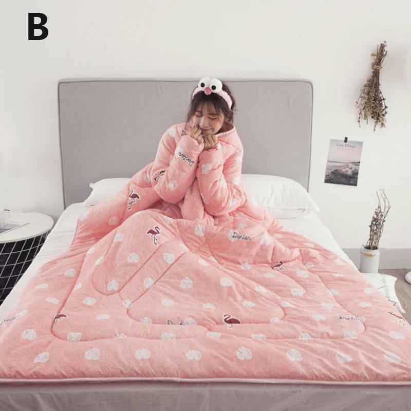 Winter Lazy Quilt With Sleeves - 30% OFF 5
