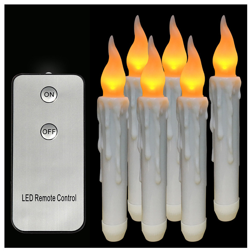 Flameless Taper Candles Led Battery Operated flickering ...