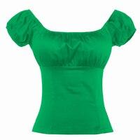 جديدة تصل المرأة مثير معطلة الكتف بلوزة خمر تصميم قمم منخفضة عودة منزعج الفلاحين القميص الصلبة السببية القمصان blusas
