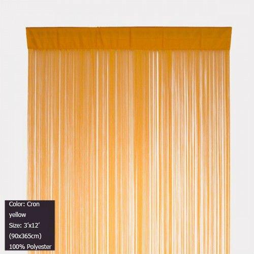 Corn Yellow String Curtain Panel Fringe Door 3 Ft X 12 90x365cm