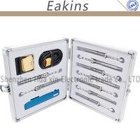 65 Вт ts100 цифровой ЖК дисплей Электрический паяльник инструмент комплект + алюминиевая коробка для хранения + 9/шт припой совет + мини T подстав