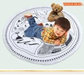 Kids Game Mats Baby Crawling Blanket Cotton Chilren Padded Play Mat Round Racing Games Carpet Play Rug Kids summer quilt 95CM