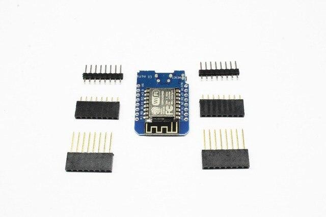 10 CHIẾC ESP8266 ESP 12 ESP 12F Mini Mô Đun Wemos D1 Mini Wifi Ban Phát Triển Micro USB 3.3V Dựa Trên ESP 8266EX 11 kỹ thuật số Pin