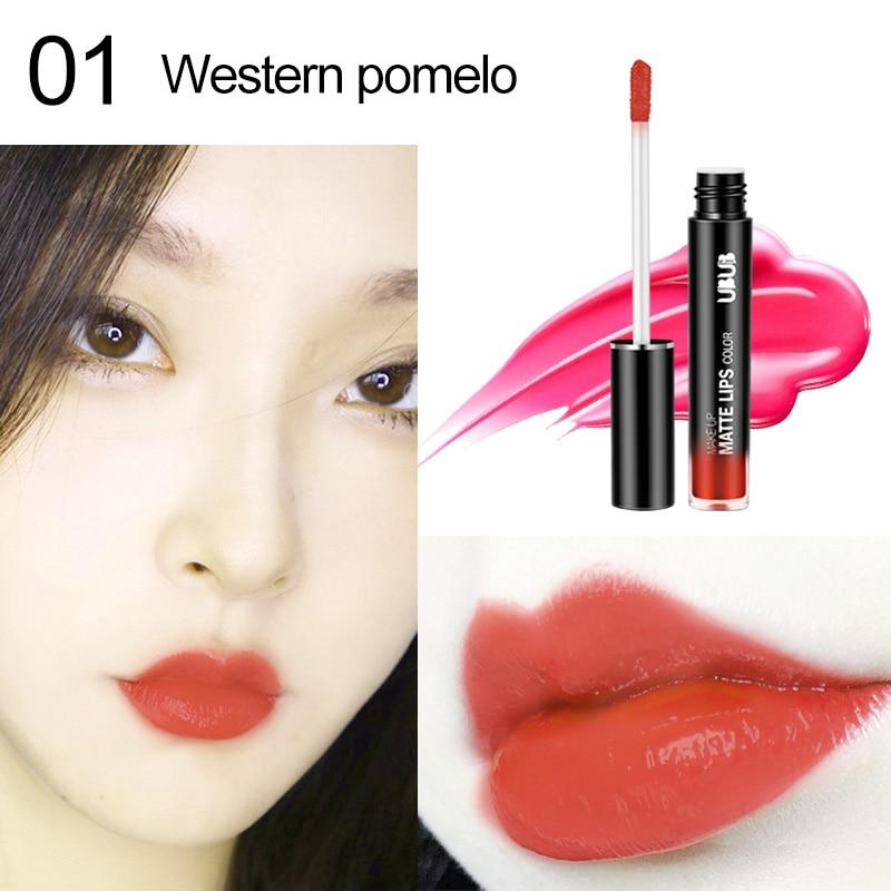 1 Pcs Lip Glaze Lipstick Long Lasting Moisturizing Fashion for Women Lady Student WH998 2