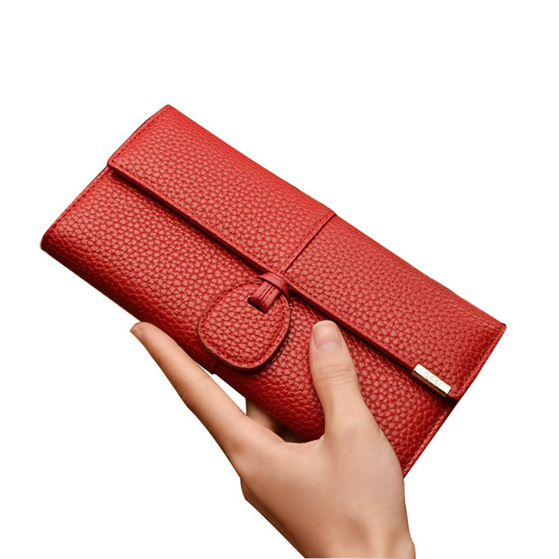 Brand Wallets Women Purses Zipper Long Designer Leather Coin Purses Money Bags Card Holders Clutch Wristlet Phone Wallets Female
