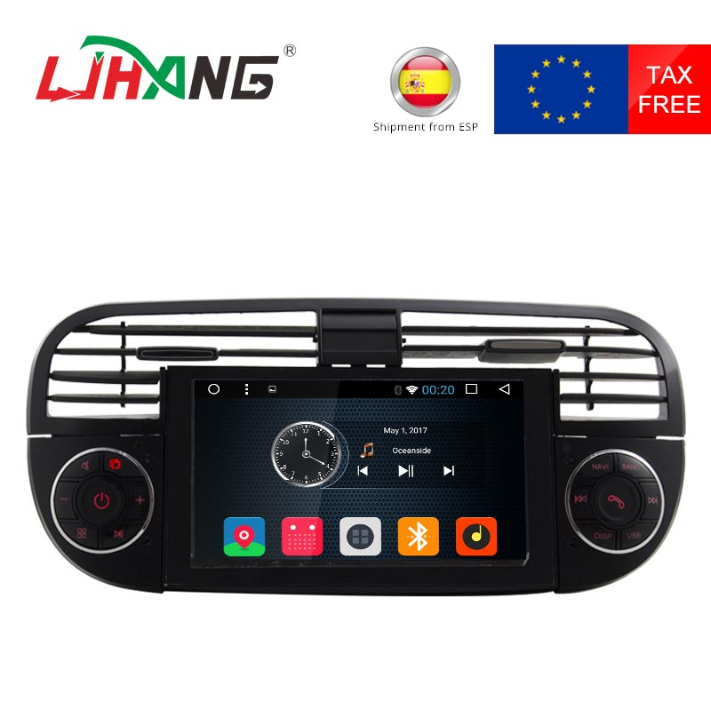 ljhang quad core 1 din android 6 0 car gps radio for fiat. Black Bedroom Furniture Sets. Home Design Ideas