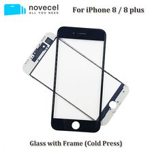 Фотография 10 Pcs/Lot Novecel 2 in 1 A+ Front Screen Outer Glass with Frame for iPhone 8 plus 8plus LCD Screen Outer Glass Replacement