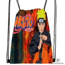 Custom Naruto Cartoon @1Drawstring Backpack Bag Cute Daypack Kids Satchel (Black Back) 31x40cm#180612-02-27