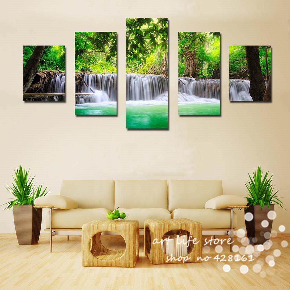 Aliexpress Buy Standard Size Home Decor For Living Room Best Color Cool Feeling Of The Pretty Scenery River Wall Art Pictures Canvas Painting From