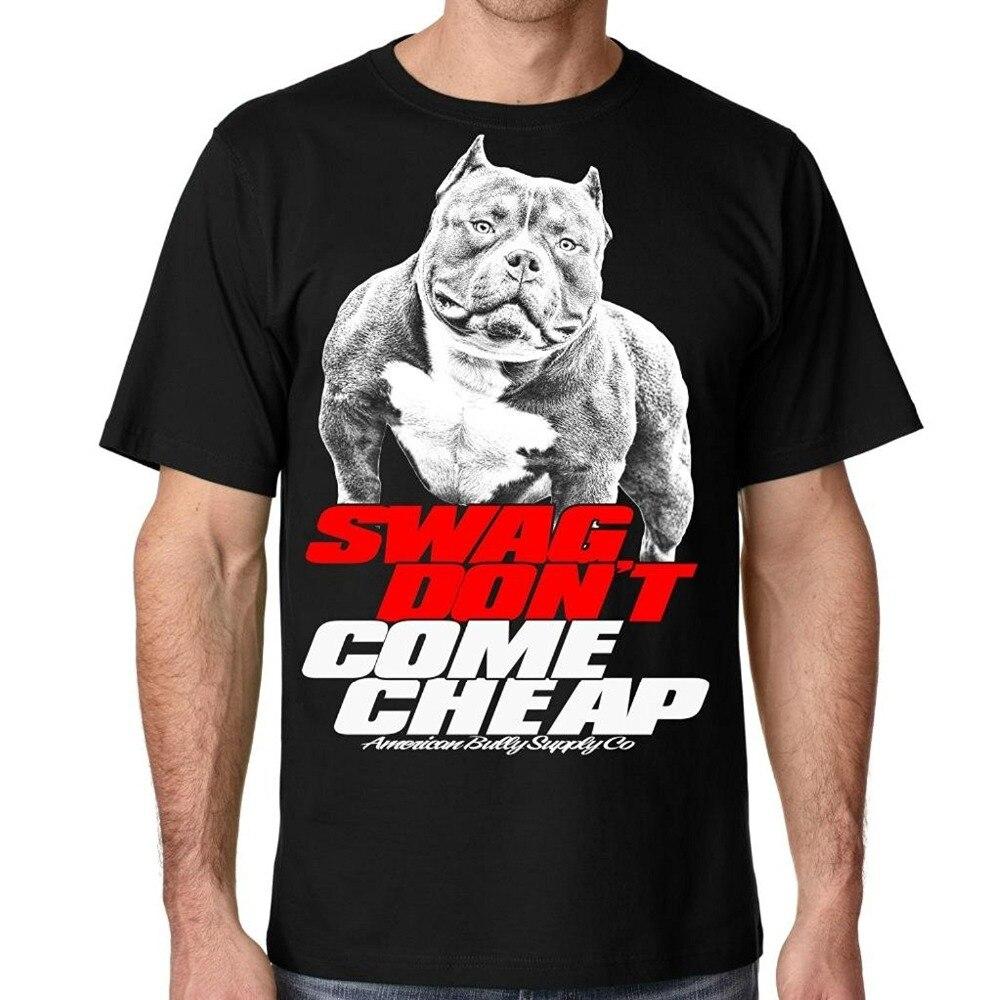 Американский хулигана сбытовая компания Для Мужчинs питбуль SWAG не приходят Дешевые футболка Для мужчин хлопковая Футболка Для мужчин лето ...