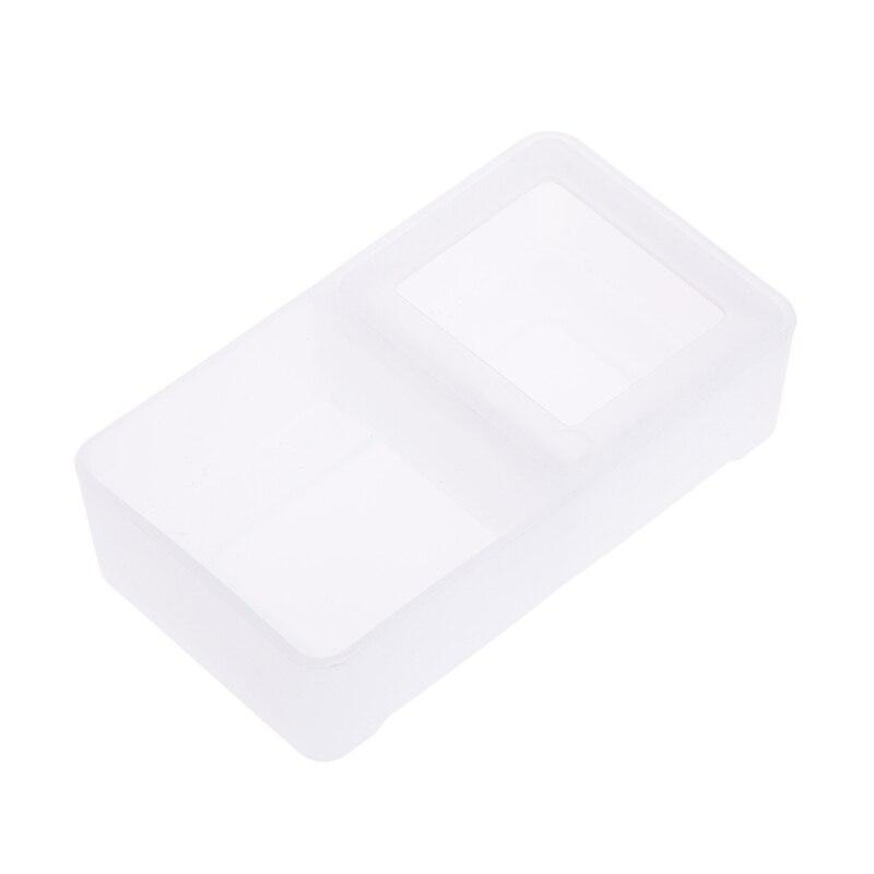 Кормушка для рептилий двойная коробка подача воды пищи паук бассейна насекомых черепаха разведение - Цвет: White