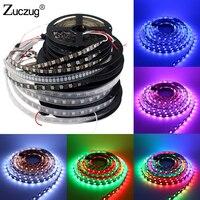 Zuzug RGB Светодиодные ленты свет WS2811 WS2812B 5 м 12 вольт Водонепроницаемый 5050 30/60/144 светодиодный/M WS2812 WS2812B DC 5 V 12 V Светодиодные ленты e Ленты