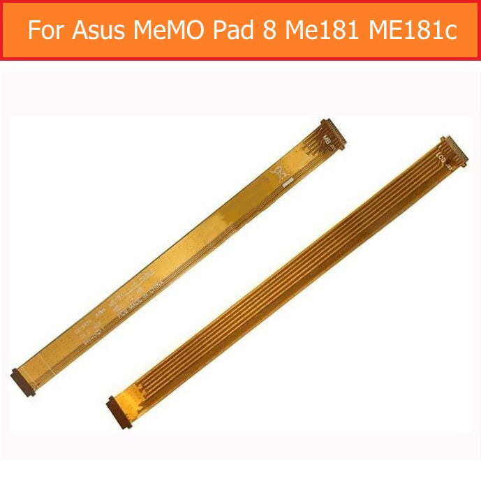 Genuine Main Board Flex Cable For Asus MeMO Pad 8 Me181 ME181C LCD Display module For Asus MeMO Pad 8 LCD display flex cable чехол для планшета it baggage для memo pad 8 me581 черный itasme581 1 itasme581 1