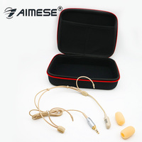 Classical Cardioid Wireless Headset Microphone for PC Computer Laptop Stage Performance Mics Beige Mike