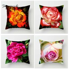 Fuwatacchi Floral  Cushion Cover for Sofa Home Decor Big Flower Bud Throw  Pillow Cover Decorative Pillowcase 45X45