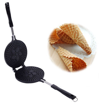 все цены на Crispy Crepe Pan, Ice Cream Cone Pan Non-stick, Baking Mould Crispy Egg Roll Maker Waffle Iron DIY mould