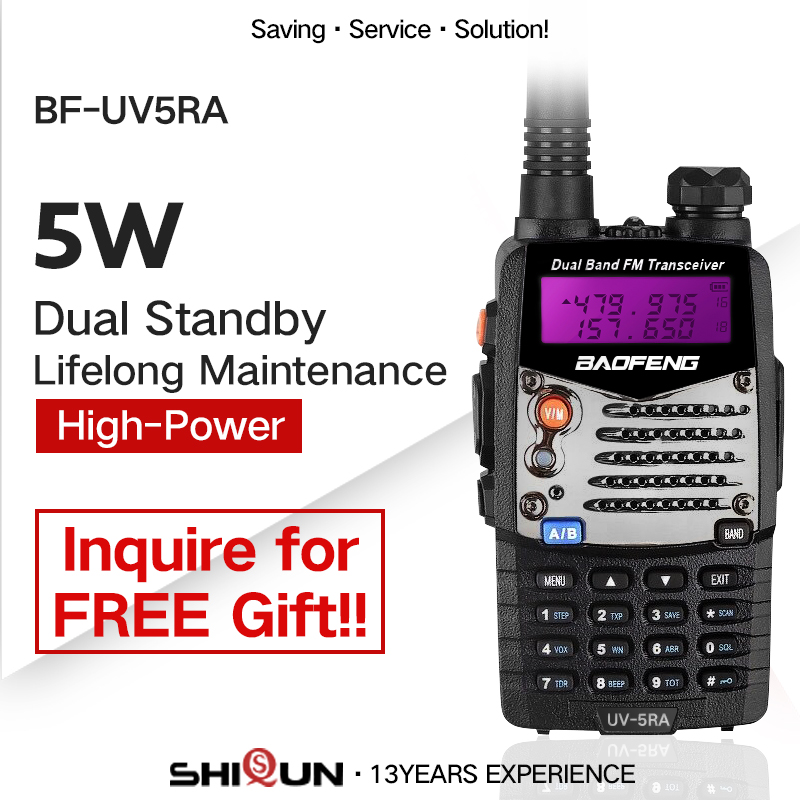 Walkie Talkie Baofeng UV-5RA Portable CB Radio UV5RA Dual 136-174 MHz & 400-520 MHz UV 5RA For Ham Hotel Commercial Security Use