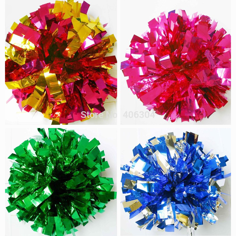 50G 10pcs Cheerleading pompom.Metallic Pom Pom.Cheering products game pompoms cheering supplies Cheerleader pom poms supplies-in Party DIY ...