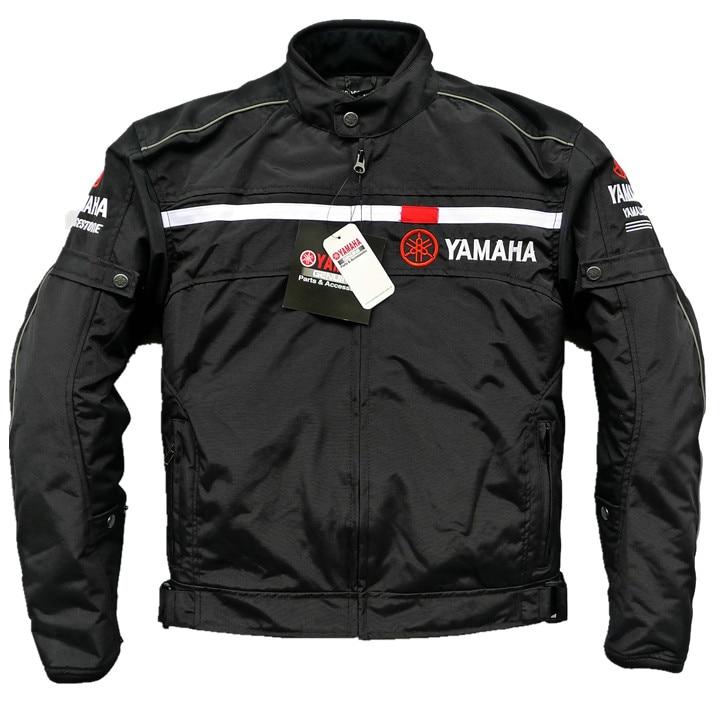 цена на Motorcycle Black jacket For YAMAHA Bike Racing Thermal Mesh Jacket Removable Liner Flancharde