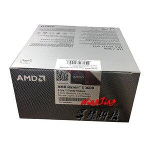 Image 4 - AMD Ryzen 5 3600 R5 3600 3.6 GHz 6 코어 12 스레드 CPU 프로세서 7NM 65W L3 = 32M 100 000000031 소켓 AM4 신규 및 팬 포함