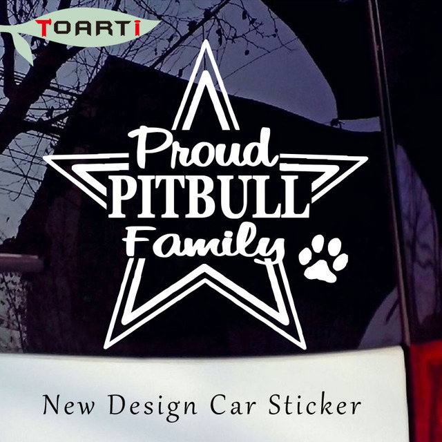 Proud pitbull pit bull family car vinyl decal sticker adhesive decals removable waterproof window car styling