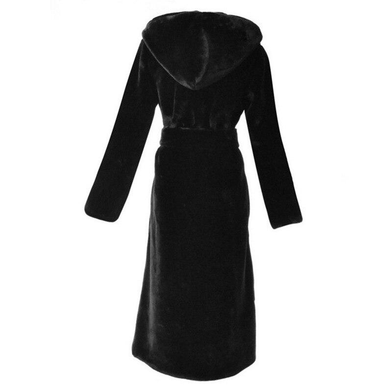 coat D'hiver Manteau Long Femelle Mode Trench Imiation Vêtements Fausse Moyen Hooded En Extra D'âge S Collar De Vison Fourrure Nouvelle Femmes 6xl Uqw60a