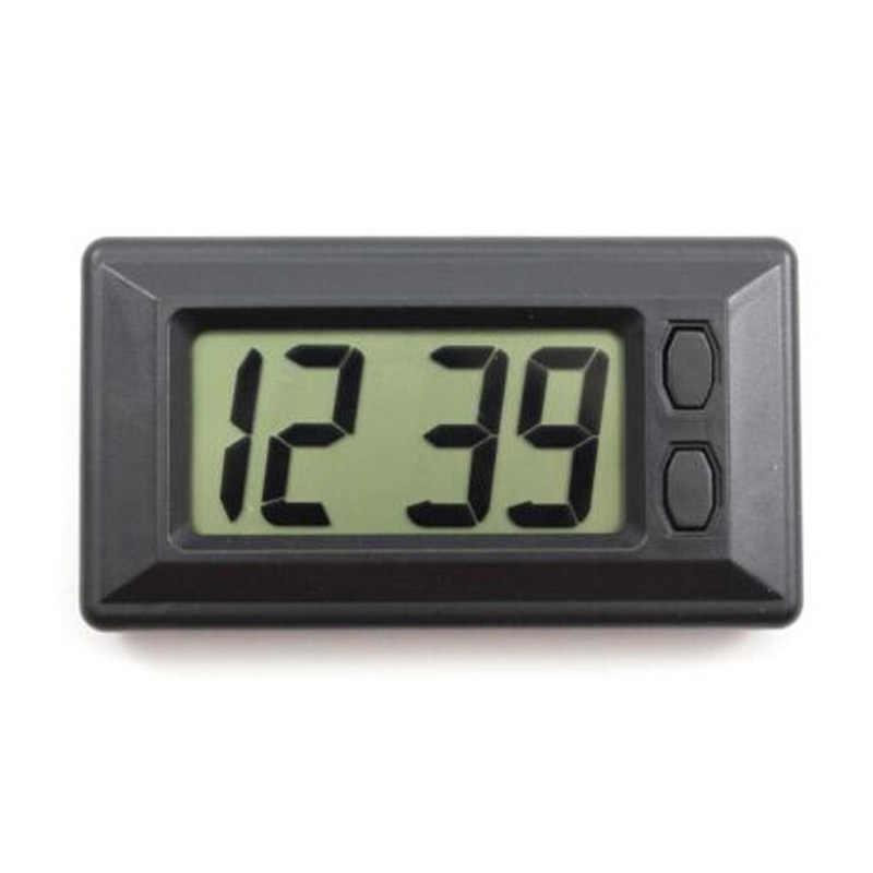 1 шт. LCD цифровые часы настольные часы Дата Время ультра тонкий приборной панели автомобиля цифровые часы с календарем для автомобилей мотоциклов Аксессуар