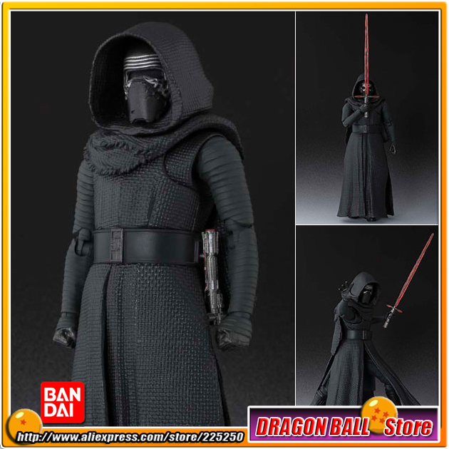 Star Wars: The Force Awakens Original BANDAI Tamashii Nations SHF/ S.H.Figuarts Action Figure - Kylo Ren saintgi saintgi star wars the force awakens kylo ren action figure pvc 16cm model toys kids gifts collection free shipping