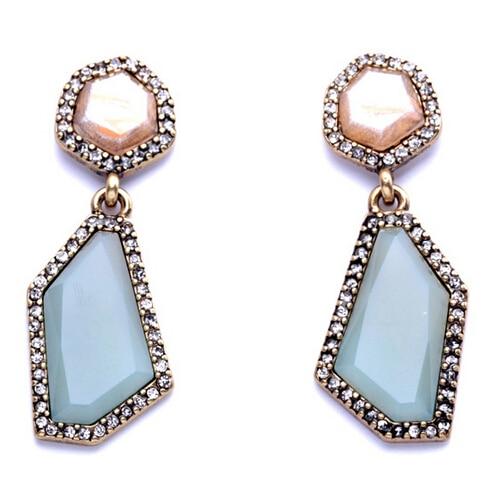Wing Yuk Tak Special Offer Women Brincos New Arrival Fashion Brief Geometric Drop Earring Charm Jewelry Earrings Wholesale