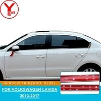 YCSUNZ exterior car window trim strips car door parts Stainless Steel trim strips accessories For Volkswagen Lavida 2013 2017