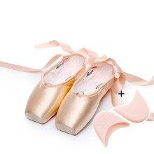 2018 Hot Adult ballet pointe dance shoes ladies professional ballet dance shoes with ribbons shoes woman 4041