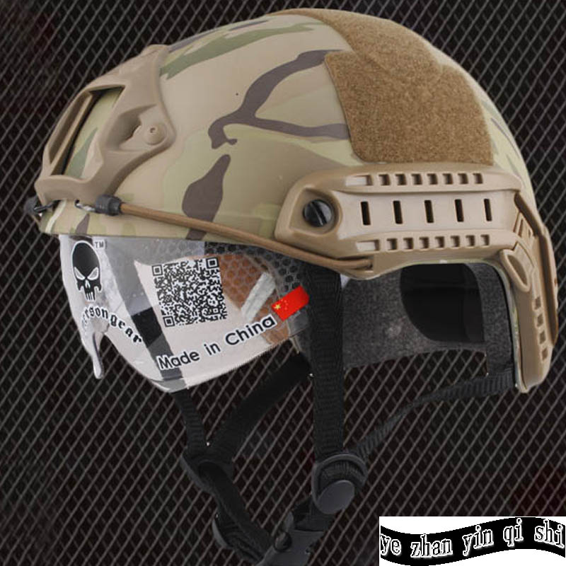FAST Helmet With Protective Goggle MH  Type Tactical Combat Gear  Military airsoft helmet  free shipping