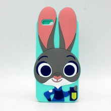цены на New Arrivals Smart Rabbit Judy Silicone Fundas For Apple iPhone 7 7plus 6 6s 6plus 6splus 5 5s se Cute Phone Cases 3D Back Cover  в интернет-магазинах