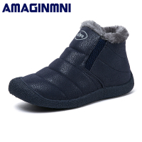 Brand Winter Women Boots Slip On Waterproof Women Snow Boots Fur Inside Antiskid Bottom Keep Warm