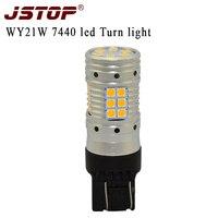 JSTOP T20 7440 led Turn Signal No Hyper Flash No error Amber Turn Signals 12 24VAC 3030 lamp canubs led Front Rear turn Lights