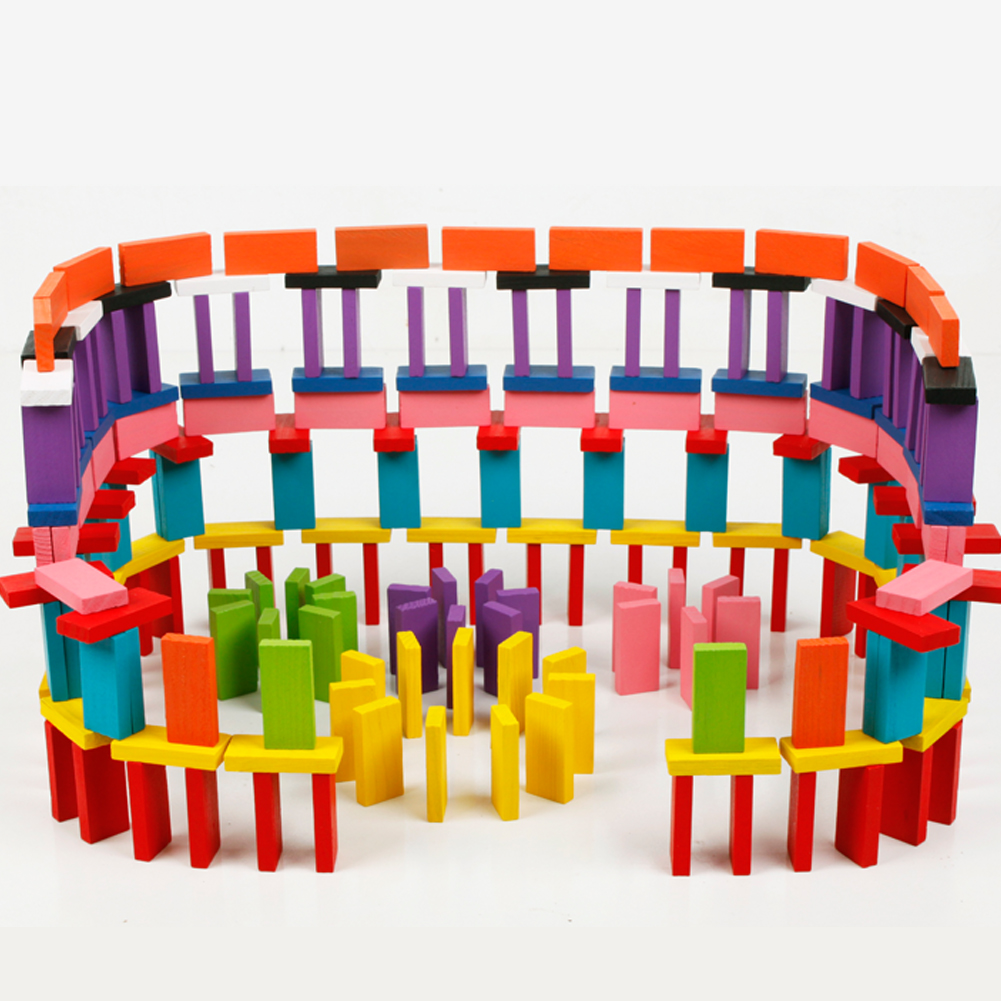 240pcs Colored Wooden Domino Set 40
