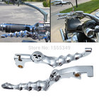 1 Pair Aluminium Motorcycle Brake Clutch Levers Skull Brake Lever For HONDA Shadow 600 750 400 CBR 600 900RR CB750 919 VTX1300