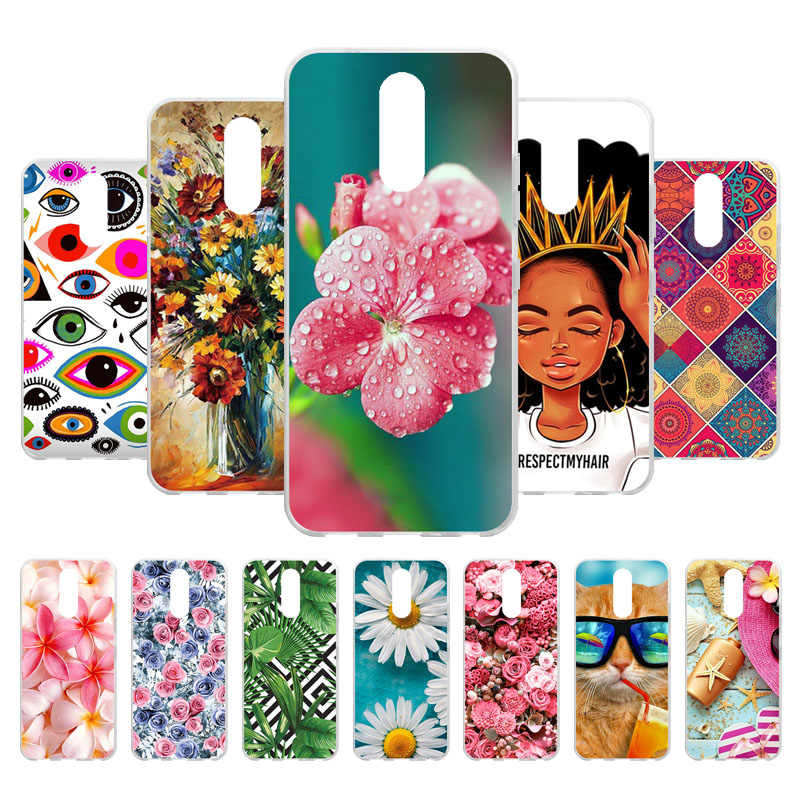 "3D DIY Soft Back Cover For LG K40 Case Silicone Painted Case For Coque LG K12 Plus K12+ 5.7"" Fundas Cover For LG K40 Bumper Bag"
