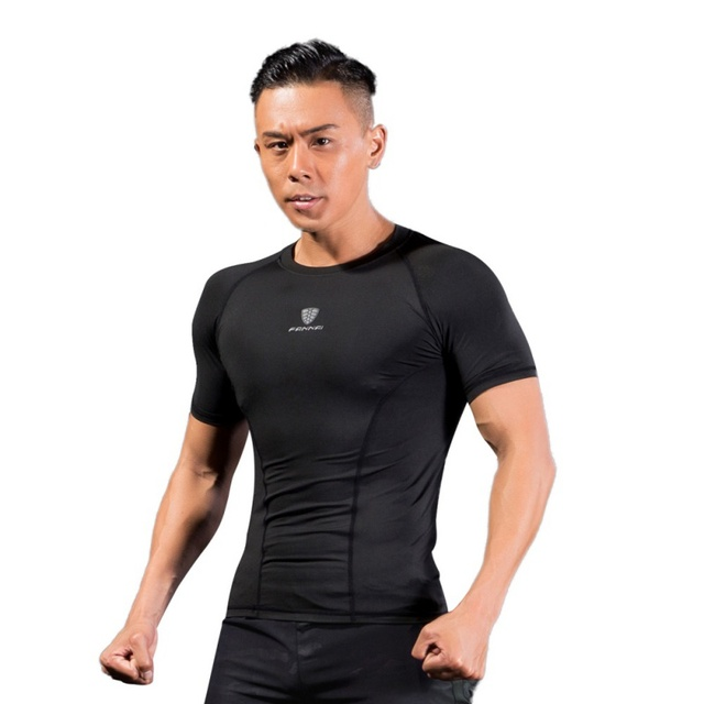 2018 New T-shirt Men Black Tights Short Sleeve Tops & Tees Male Compression Fitness Quick Drying t shirt Sport Clothes