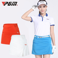 PGM Golf Skirt Women Badminton Table Tennis Short Skirts Running Training Sport Wear Pleated Short Skirt Lady Golf Clothing