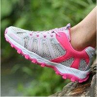 Women Hiking Shoes 2017 Summer Outdoor Couples Mesh Air Men Multi Color Climbing Sport Shoes Size