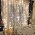 3X2,5 м 240 светодиодный Рождественский гирлянда светодиодный Сказочный струнный светильник вечерние садовые Свадебные окна для дома отеля фе...