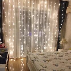 3X2.5M 240LED Guirlanda De Natal Fada Luz LED String Festa de Casamento Do Jardim Janela Home Hotel Decoração do Festival Cortina luzes