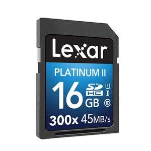 Image 2 - 100% Original Lexar Flash carte SD 300x16 GB 32GB SDHC 45 mo/s cartao de memoria classe 10 U1 USH I carte mémoire pour cartes appareil photo
