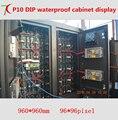 960*960 мм P10 DIP водонепроницаемый кабинет дисплей для наружной рекламы